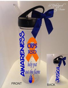 CRPS RSD Awareness Personalized Water Bottle by PYdesigned on Etsy, $15.00