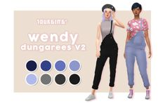 ✨ wendy dungarees V2 ✨