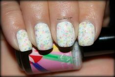 """Kawaii Nail Lacquer """"Pastel Party"""" Limited Edition Spring 2013 over Wet n Wild """"White On"""""""
