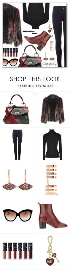 """Outfit of the Day"" by dressedbyrose ❤ liked on Polyvore featuring Proenza Schouler, Dolce&Gabbana, 7 For All Mankind, Michael Kors, Ileana Makri, Repossi, Italia Independent, Isabel Marant, Petit Bateau and MICHAEL Michael Kors"