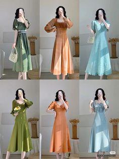 Modesty Fashion, Kpop Fashion Outfits, Edgy Outfits, Classy Outfits, Cute Fashion, Pretty Outfits, Dress Outfits, Korean Outfit Street Styles, Korean Fashion Dress