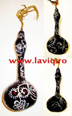 Tartacuta pictata in culori acrilice...  Flori pe negru  www.laviq.ro  www.facebook.com/pages/LaviQ/206808016028814