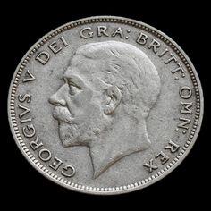 1934 George V Silver Half Crown – Scarce – AVF
