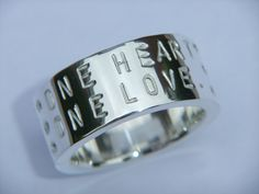 Personalised Chunky 925 Silver Ring With Six Diamond by DOGSTONE, £195.00