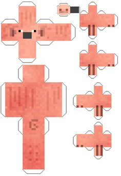 Minecraft Papercraft Pig with Snout