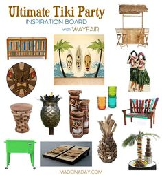 How to Throw the Ultimate Tiki Party, my favorite decor picks for creating the perfect outdoor paradise! Luau party planning, island themed party decor,…