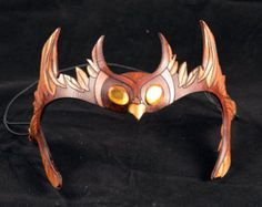 Leather Circlets | Little Brown Owlet Leather Cosplay Masklette Circlet Crown Hairband ...