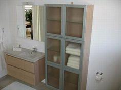 Mehr Stauraum Im Badezimmer Retroschrank Mit Glastüren ... Stauraum Badezimmer