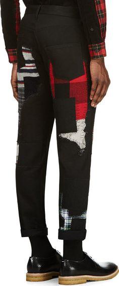 Junya Watanabe Black Patchwork Jeans