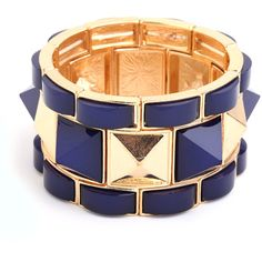 BaubleBar Navy Pyramid Stud Cuff ($36) ❤ liked on Polyvore
