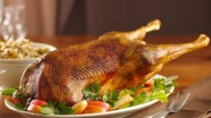 Christmas Goose! I add 2 cups of port to the roasting pan and skip the stuffing in the bird.