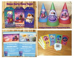 DIY Home Birthday Party Kit Download Banner Invite Cupcake Toppers