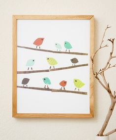 Birds Print by Children Inspire Design