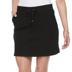 Petite Croft & Barrow® Knit Skort, Black