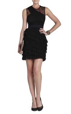 Bcbgmaxazria Jaya Pleated Sleeveless Dress BlackOutlet