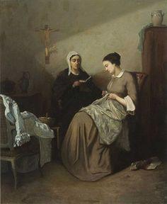 Amédée Guérard (1824–1908) -  Bibelstunde (Bible Study) (1908)