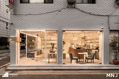 White Interior Design, Cafe Interior, Facade Design, Architecture Design, Seoul Cafe, Project R, Shop Facade, Cafe Concept, Minimalist Interior