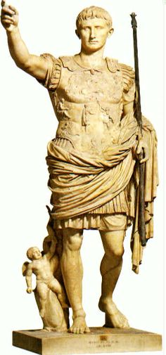 Prima Porta Augustus (From Livia's Villa) after 13 CE, Vatican Museums, Rome Roman History, Art History, Ancient Rome, Ancient Art, Greek Model, Roman Art, Western Art, Roman Empire, Art And Architecture