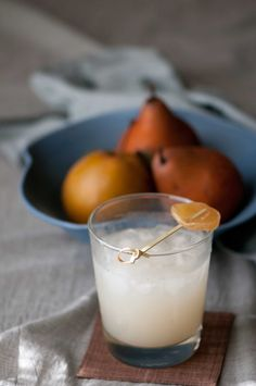 The White Ginger - ginger-pear cocktail