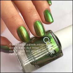 Color Club Oil Slicks – Color Club Don't Kale My Vibe. The whole collection swatched at imabeautygeek.com