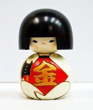 Usaburo Kokeshi Japanese Wooden Doll 7-32 Kintaro (Japanese fairy tale Kintaro)