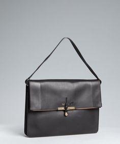 Celine Calfskin Large Portfolio Shoulder Bag