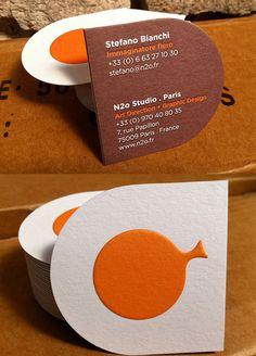 Custom Letterpress business card design
