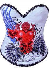 Flying Heart Burlesque Corset   Atomic Crush www.atomiccrush.com