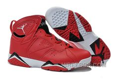 9d33cee006e5 Mens Air Jordan 7 Red Black White Shoes For Sale Christmas Deals 34nKib