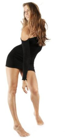 Sexy Stretchy Off Shoulder LBD Little Black Mini Sweater Dress by KD dance New York, Comfortable Stretch Knit, Sophisticated, Unique & Fashion Versatile Made In USA.