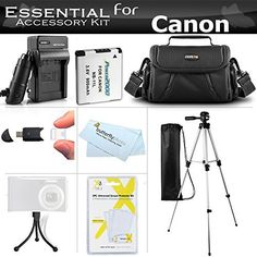 """ESSENTIAL ACCESSORIES KIT FOR CANON POWERSHOT SX400 IS, SX410 IS, SX420 IS DIGITAL CAMERA INCLUDES REPLACEMENT (900MAH) NB-11L BATTERY + AC/DC CHARGER + CASE + 50"""" TRIPOD + SCREEN PROTECTORS + MORE Comment below your experience and review for this product please"""