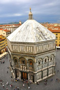 The Florence Baptistery or Battistero di San Giovann , Romanesque Architecture, Renaissance Architecture, Church Architecture, Beautiful Architecture, Firenze Italy, Venice Italy, Florence Baptistery, Pisa, Monuments