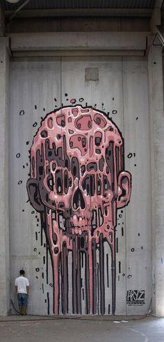 Street art by Aryz: