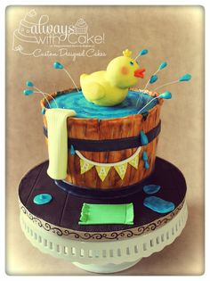 Rubber Duck Baby Shower Cake by Alwayswithcake Baby Shower Duck, Tea Party Baby Shower, Baby Shower Cakes, Baby Showers, Gorgeous Cakes, Amazing Cakes, Rubber Duck Cake, Girl Cakes, Baby Cakes