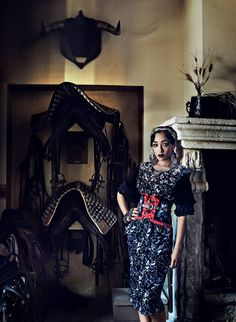 """Strength of Character - """"Her quiet evolution was so touching to me,"""" says Negga. Dior dress; select Dior boutiques. Early Halloween scarf."""