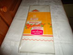 Vintage NOS NIP Party Maid/American Greetings Paper Party Table Cover. Birthday