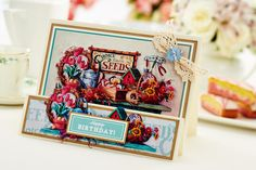Floral Decoupage: delight your friends and family with Joanna Sheen's easy digital card [Crafts Beautiful, September 2014]