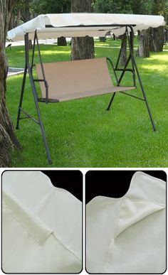 "Brand New Replacement Swing Set Canopy Cover Top 77""X43"" by MTN Gearsmith. $32.95. Polymer coating for protection against UV rays from sun and increased durability. Material: High Quality 180 gram polyester. Color: Beige. Swing Top Dimension 77"" x 43"" with 5"" Overhang. Mildew, Water and Stain Resistance. Swing Top Dimension 77"" x 43"" with 5"" Overhang. Please Measure your Swing Chair before you purchase this swing cover. There are many different size of swing chair. If you have a..."