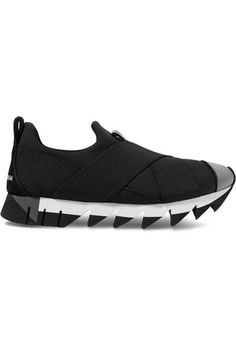 Dolce & Gabbana - Ibiza Neoprene Slip-on Sneakers - Black - IT39.5