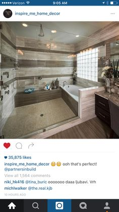 I love how the bath tub and shower are in the same area. That's perfect.