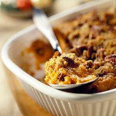 No-Fuss Sweet Potato Casserole - so easy I'll be testing this (over and over) before Thanksgiving!