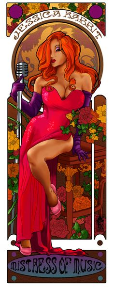 Nouveau Yaya as Jessica Rabbit by hatchback-girl.deviantart.com