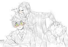 Harry Potter Animé, Harry Potter Universal, Angel Of Death, Severus Snape, Drarry, Cartoon Art, Cute Art, Hogwarts, Manga