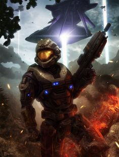 You so didn't need to die Six! Halo: Reach - Noble Six by Rahll.deviantart.com on @deviantART