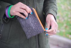 Gunmetal Quilted Circle Wristlet Wallet by BrandEShop on Etsy, $15.00