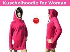 Schnittmuster - Kuschelhoodie for Woman nähen, Schnittmuster - ein Designerstück von Trash-Monstarz-Naehshop bei DaWanda