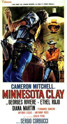 Italian western movie posters   Wednesday Western: 'Minnesota Clay'