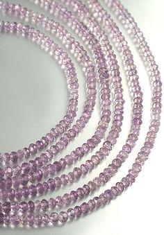 SmartyHands.com: Lavender Amethyst button cut 3.5 mm / 18cm