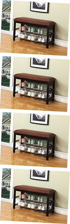 Shoe Organizers 43506: Black Chocolate Micro Fabric Shoe Rack Storage Organizer And Hallway Bench -> BUY IT NOW ONLY: $69.49 on eBay!