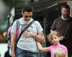 Dave with his daughter Stella. Love the Hello Kitty backpack Dave is carrying.